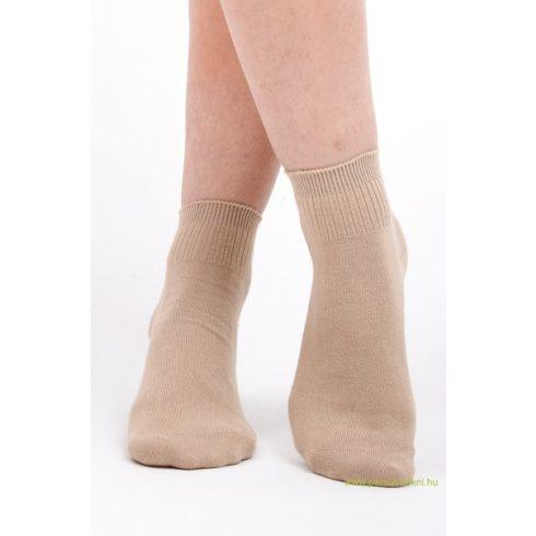 Bordás boka zokni - drapp 37-38