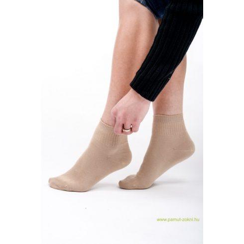 Bordás boka zokni - drapp 39-40