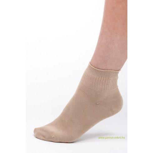 Bordás boka zokni - drapp 45-46
