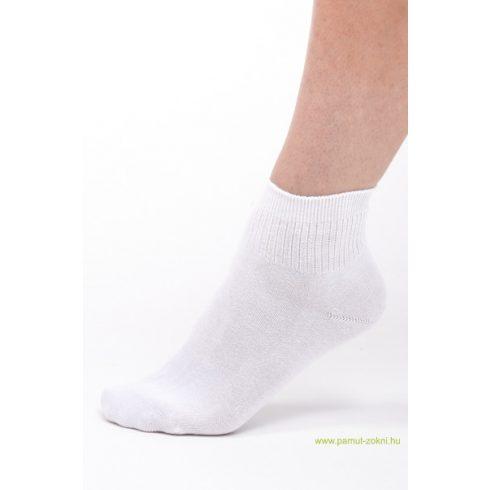 Bordás boka zokni - fehér 43-44