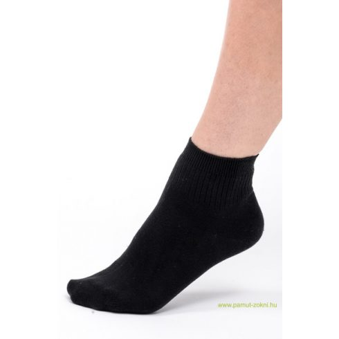 Bordás boka zokni - fekete 37-38
