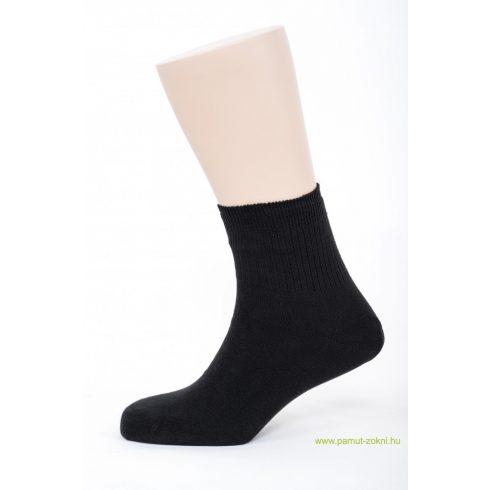 Bordás boka zokni 2 pár - fekete 45-46