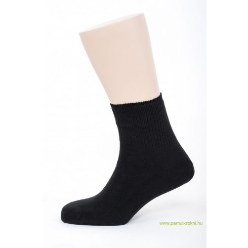 Bordás boka zokni - fekete 43-44