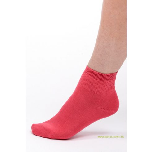 Bordás boka zokni - rózsaszín 37-38