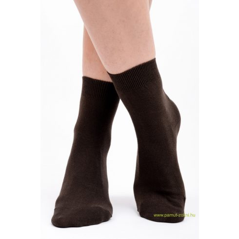 Brigona Komfort pamut zokni 2 pár - barna 35-36