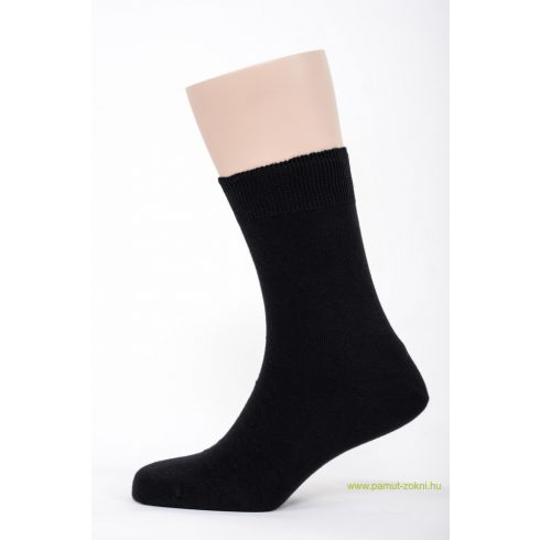 Brigona Komfort pamut zokni - fekete 43-44