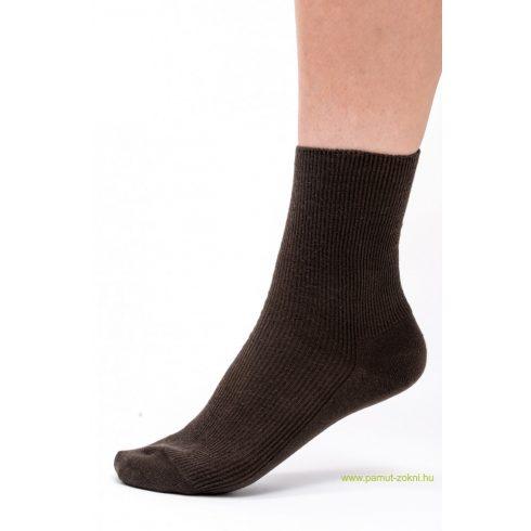 Brigona Komfort gumi nélküli zokni - barna 37-38