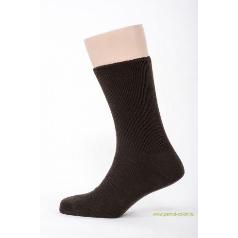 Brigona Komfort gumi nélküli zokni - barna 45-46