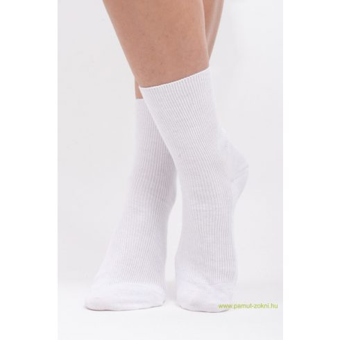 Brigona Komfort gumi nélküli zokni - fehér 35-36