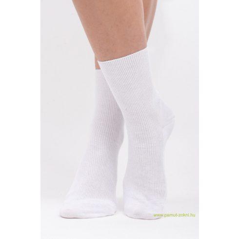 Brigona Komfort gumi nélküli zokni - fehér 41-42