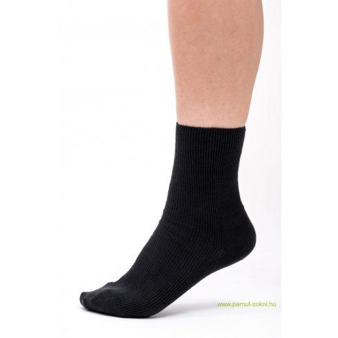 Medical, gumi nélküli zokni 5 pár - fekete 39-40