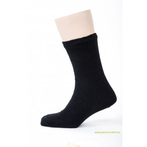 Brigona Komfort gumi nélküli zokni 5 pár - fekete 43-44