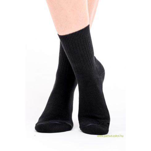 Frottír talpas zokni - fekete 37-38