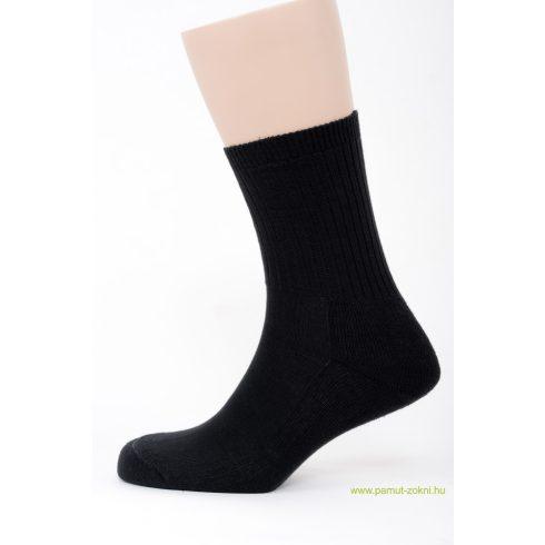 Frottír talpas zokni - fekete 43-44