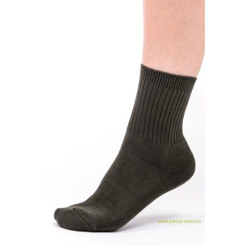 Frottír talpas zokni 2 pár - keki 39-40