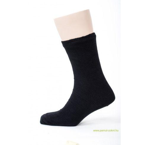 Medical, gumi nélküli zokni 5 pár - fekete 45-46