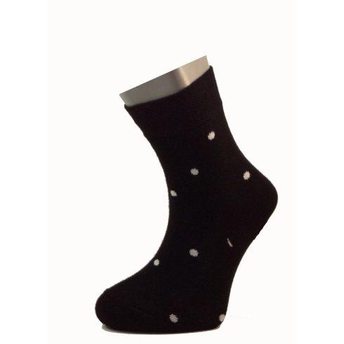 Gyerek zokni - Fekete-fehér pöttyös 29-30
