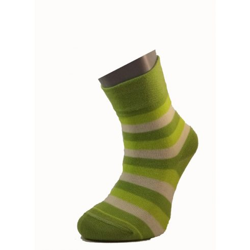 Gyerek zokni - Zöld csíkos 29-30