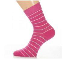 Gyerek zokni - Fuxia csíkos 35-36
