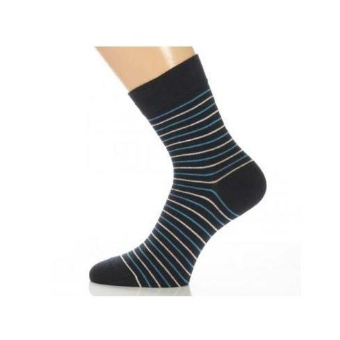 Gyerek zokni - Kék- fehér csíkos 35-36
