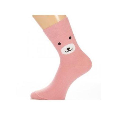 Gyerek zokni - Pink Bear  35-36