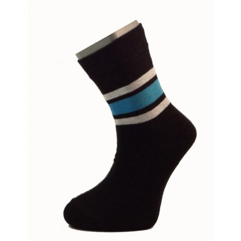 Gyerek zokni - Fekete- kék- szürke csíkos 33-34