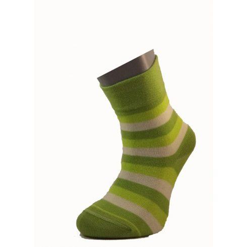 Gyerek zokni - Zöld csíkos 31-32