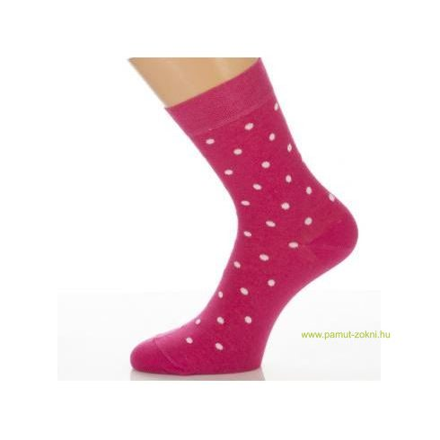 Gyerek zokni - Fuxia fehér pötty 31-32