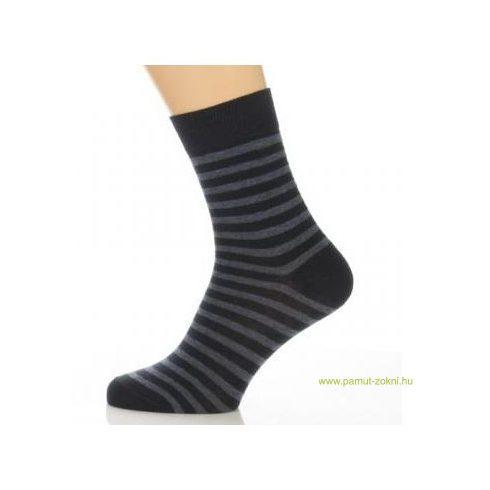 Gyerek zokni - Melírkék csíkos 31-32