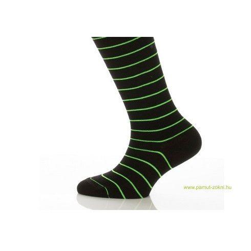 Gyerek zokni - Neon zöld csíkos 33-34
