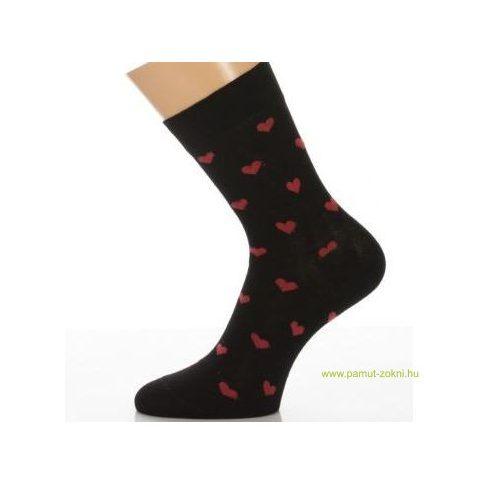 Gyerek zokni - Piros szív 35-36